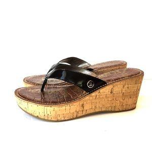 Sam Edelman Black Thong Platform Sandals